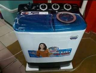 Mesin cuci sanken masih baru belum pernah digunakan