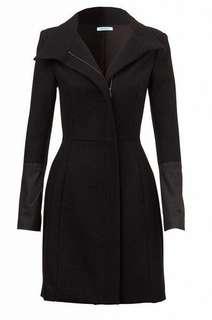 FREE EXP POST KOOKAI Ava Wool/faux Leather Coat