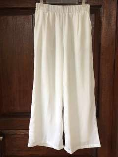 NEW! White Cullote Long Pants