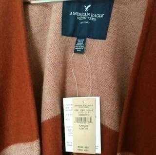 New AEO cape shawl