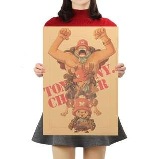 🚚 Premium Vintage Style One Piece| Tony Tony Chopper Portrait Poster