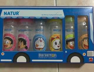 Natur Doraemon milk bottles set (last set)