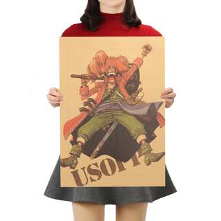 🚚 Premium Vintage Style One Piece| Usopp Portrait Poster
