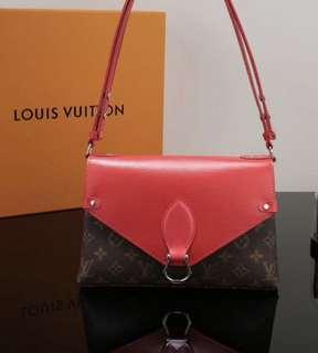 Louis Vuitton red handbag LV紅色手袋