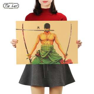 🚚 Premium Vintage Style One Piece| Zoro Front Stance Poster