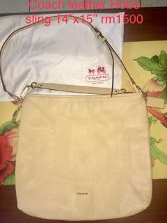 Coach sling Hobo Handbag