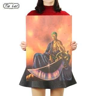 🚚 •Premium Vintage Style One Piece| Zoro Ronin Poster