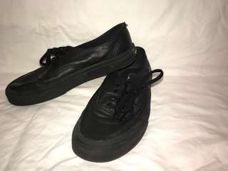 Black leather vans