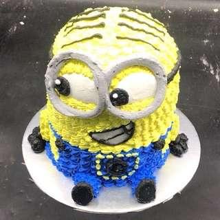 Minions 小小兵 小黃人蛋糕 2磅