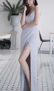 Thailand Tide brand socialite sexy long leg chiffon dress #KayaRaya
