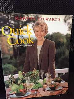 IN GOOD USED CONDITION! Martha Stewart's Quick Cook (200 quick and elegant recipes)