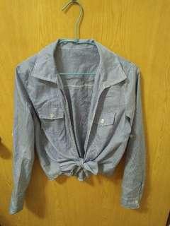 🚚 藍白條紋襯衫 比基尼罩衫