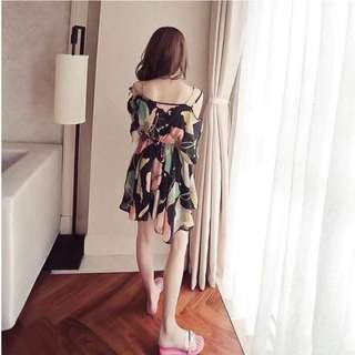 🌷Korean dress  🌻Thick chiffon  💐one color 🌷fit s to L (One Size) 🎀Good Quality