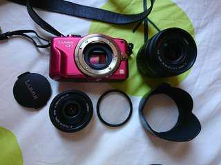 Panasonic GF3微單相機 雙鏡頭+濾鏡