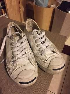 🚚 Converse 皮質開口笑帆布鞋 All star