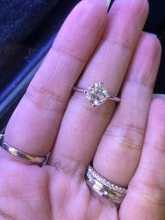 天然鑽石戒指1.53ct 高色好火🔥只售29800