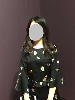 🚚 Zara 小鳥&花 洋裝