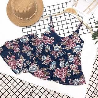 Flower vest top + pant