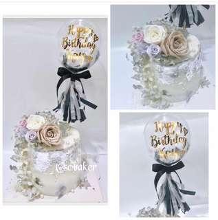 玫瑰花蛋糕 生日蛋糕 立體蛋糕 3d蛋糕 氣球蛋糕