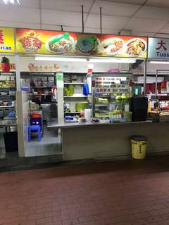 High traffic noodle stall in industrial area for takeover