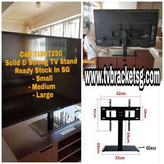 Solid TV Table Stand With Bracket/Universal/Multi-size Range