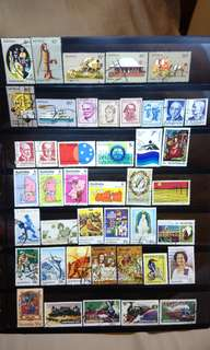 Australia Stamps lot of 43 pcs including 3 complete sets 1970s attractive