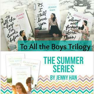 EBOOK:Jenny Han To All The Boys Trilogy & The Summer I Turned Pretty Trilogy eBook complete set for 50Php PLUS 13 Reasons Why