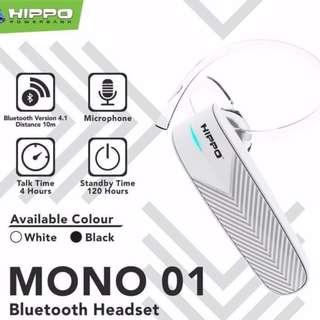 Handsfree Bluetooth Hippo Mono 01 Original/Headset/Earphone