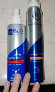 Hairspray bundling foam #maudecay