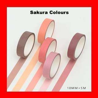 🚚 Washi Tape (Sakura Colours Set)