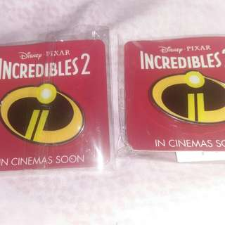 150 Incredibles2  Pin Badge Original