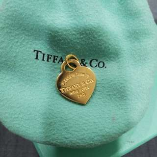 Authentic Tiffany & Co 18K Gold Heart Tag Pendant