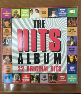 THE HITS ALBUM (32 Original Hits) 2 x Vinyl Records in one album
