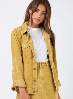 Minkpink Brick Empire Girlfriend Jacket Gold Size XS