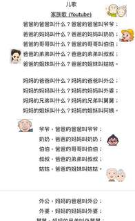 [Softcopy] Teaching and learning resource - Nursery Chinese Song book