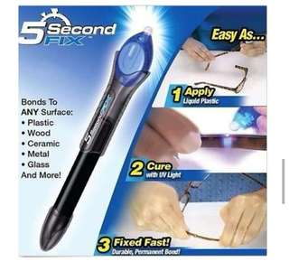 ★5 Second Fix★ UV Light Multipurpose Repair Tool Liquid Weld Pen Welder Super Repair Glue