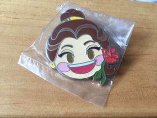 Disneyland Pin 徽章 Emoji Belle