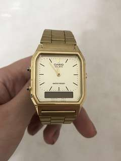 Casio Gold Metal Watch