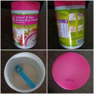 instant si sen brown rice powder with ikan bills
