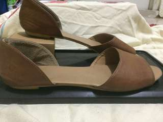 Brown Peeptoe shoes