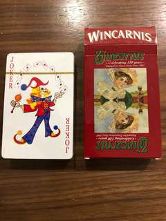 Wincarnis Anniversary Poker Cards