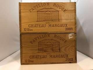 Chateau Margaux 2001, 2002 無蓋12支裝木盒 2個
