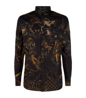 Givenchy Underworld Printed Allover Long Sleeves Shirt