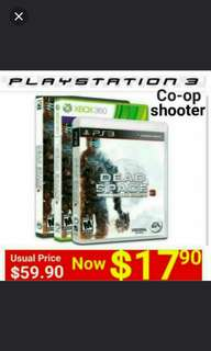 PS3 DEAD SPACE 3 ( LIMITED EDITION )  Genre: Horror Shooter -  1 Player Or 2 Players Co-op game.  Usual price: $49.90 Special Price: $12.90 + free mail postage (Brand New in box & Sealed)