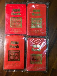 BN ABN bank 1980s Red Packets