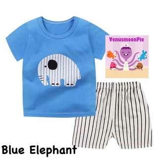 Blue Elephant Kids T-shirt set