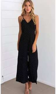 🌷U.s polka jumpsuit  🌻Cotton  💐one color ( black )  🌷fit S to L (One Size) 🎀Good Quality 💕