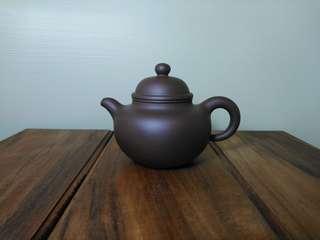 Zisha teapot 一厂80年代中黑砂掇球壶