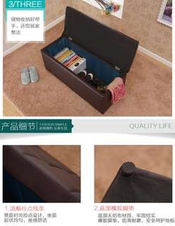 Storage bench for shoes and clothes