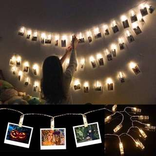 CHEAPEST LED Polaroid wall clips string 1.5/2 M